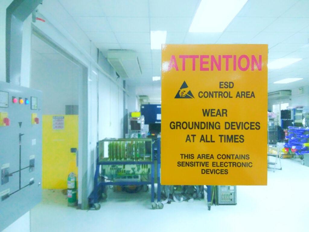 ESD Warning Sign